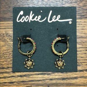 Cookie Lee Vintage Coral Earrings